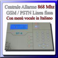 Centrale allarme wireless / filare 868 Mhz