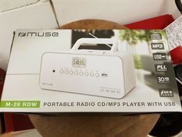 Muse M-28Rdw Impianto Stereo Portatile 3 W Bianco cd/mp3