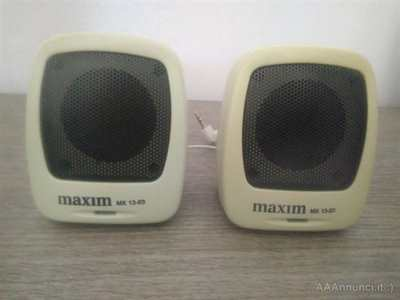 Mini casse stereo Maxim Audio bianche