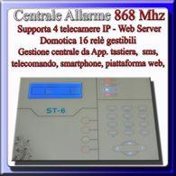 Centrale allarme wireless filare con menù vocale italiano