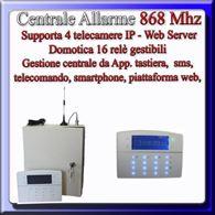 Centrale allarme in box di metallo wireless / filare 868 Mhz