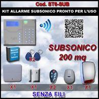 Kit Allarme Subsonico Completo Senza Fili ST6-Sub