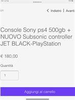 Play station 4 originale Sony e nuova