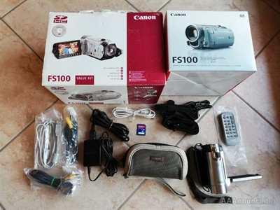 Videocamera Canon FS100 Silver Grey usata