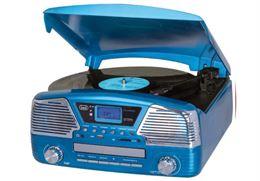 Giradischi Trevi Blu Compatto Usb Radio